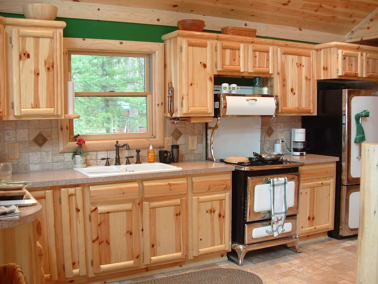 Best Kitchen Gallery: Love This Kitchen The Oven And Refrigerator Add To Its Uniqueness of Pine Kitchen Cabinets For Sale on cal-ite.com