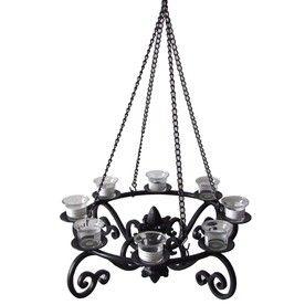 Allen Roth 19 In H Black Metal Outdoor Decorative Lantern