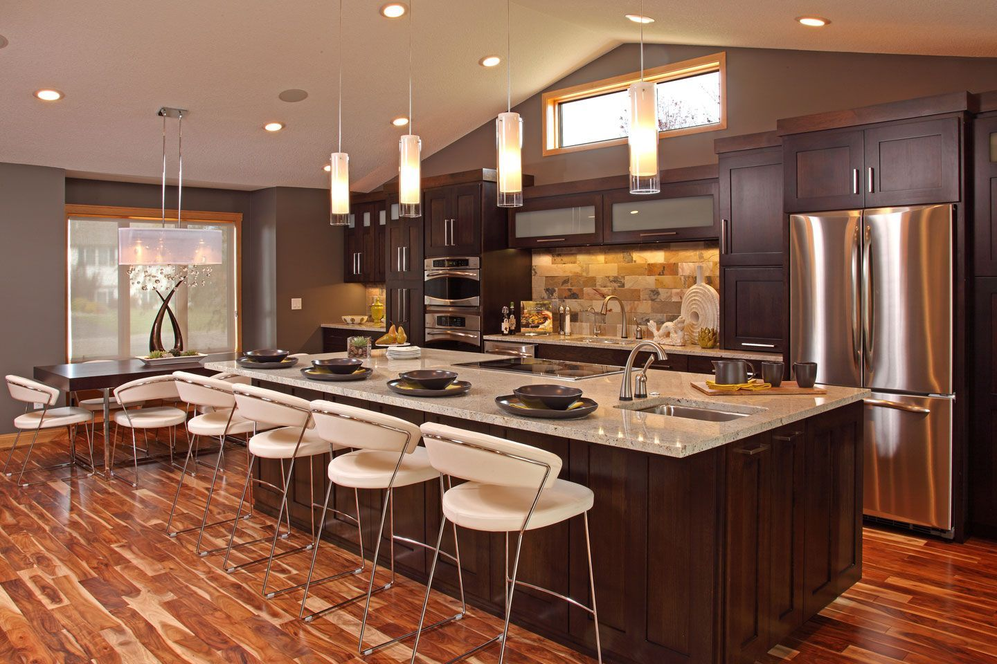 Open Galley Kitchens With Islands
