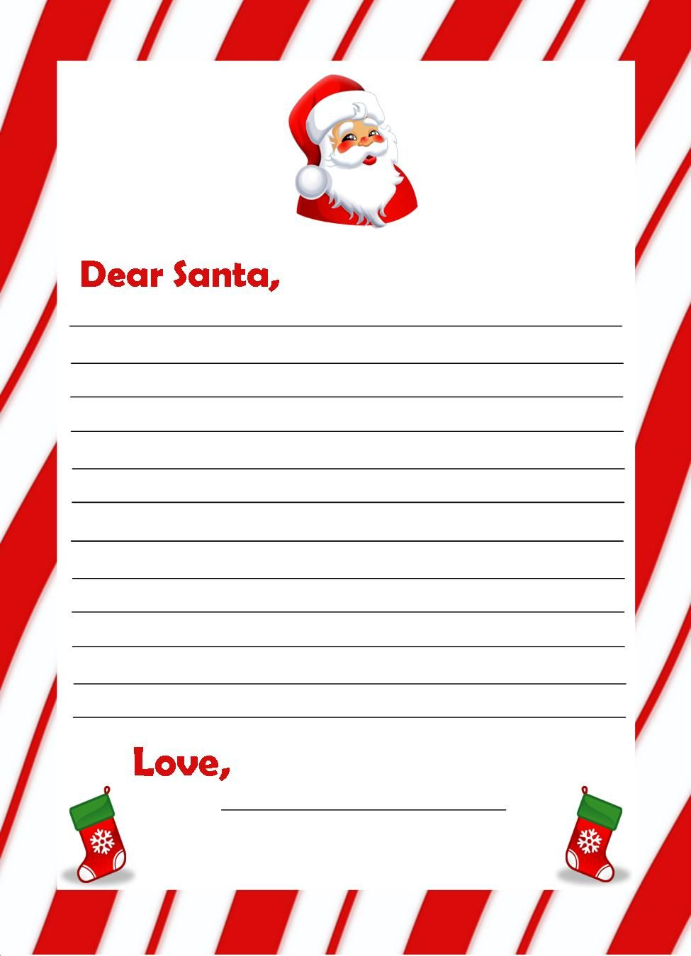 Santa Claus List Template 1000 images about free santa letters – Santa Claus List Template