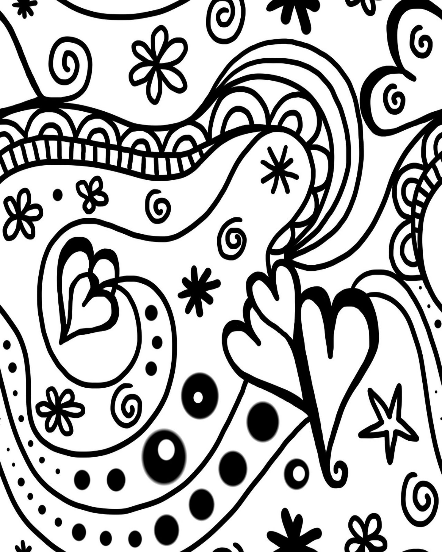 Free Printable Groovy Hearts Coloring Page For Valentine S Day Fine Art