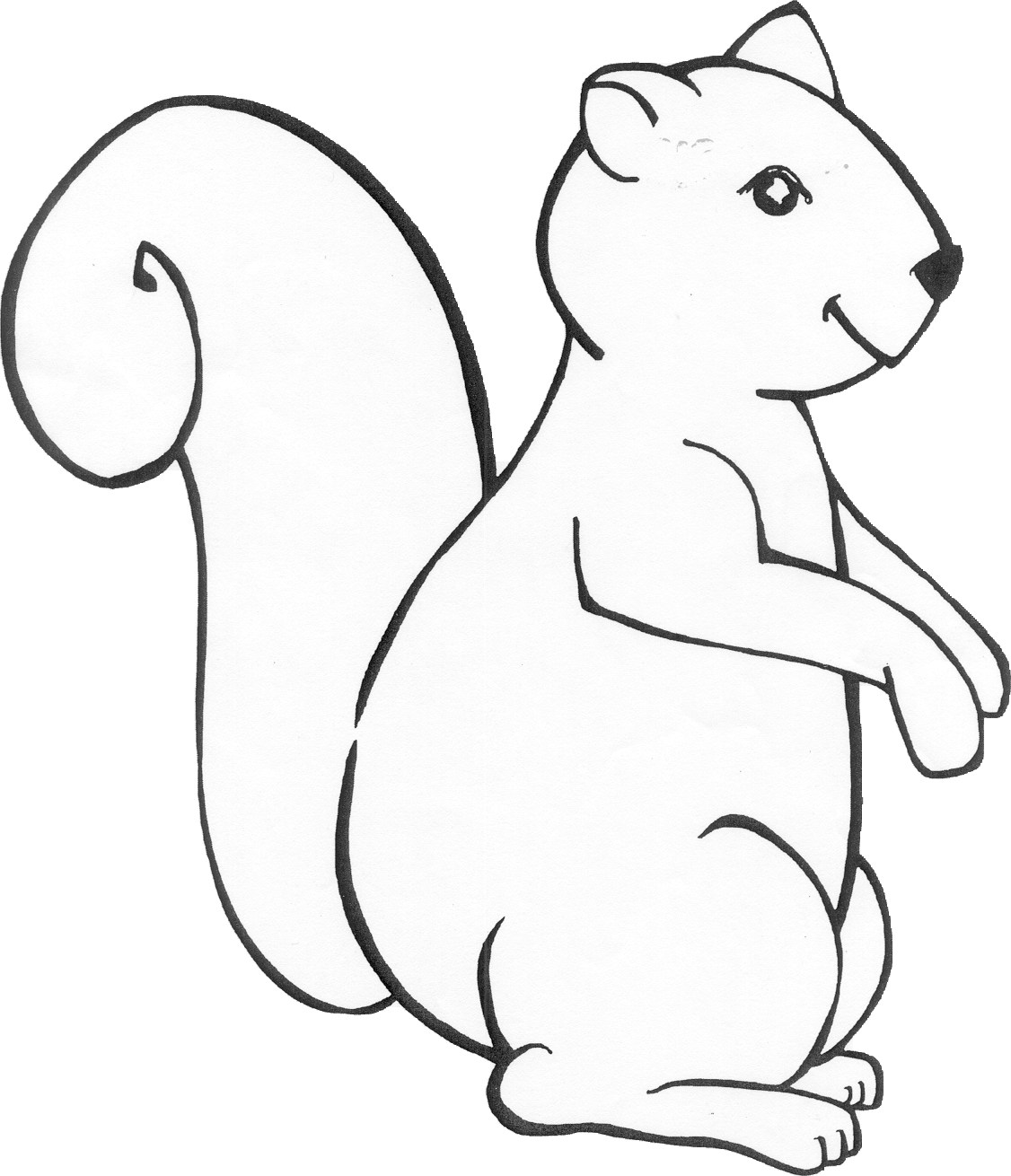 Animals Free Printable Coloring Colour In Printable Red Squirrel