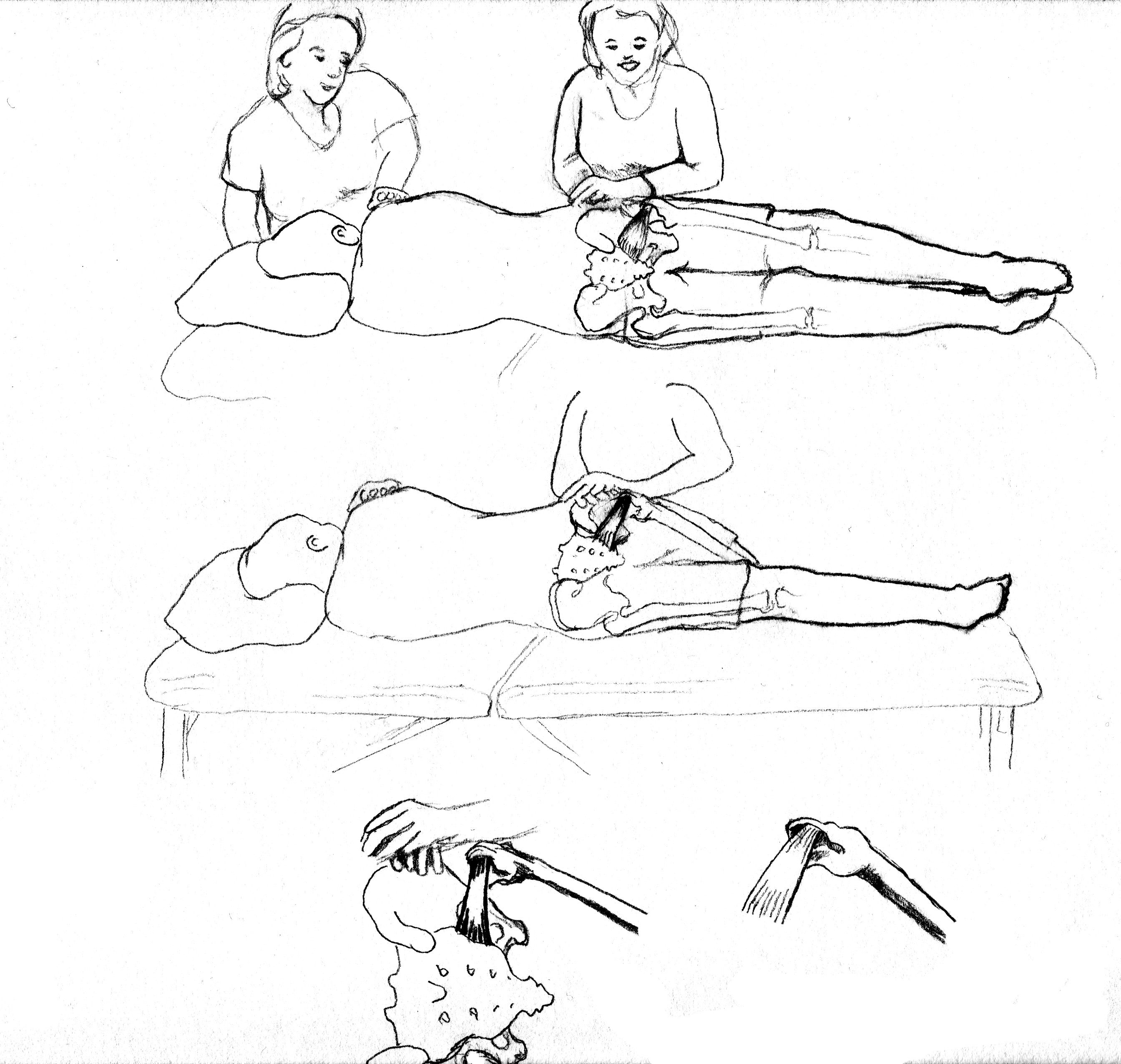 Pelvic Floor With Sidelying Release Sketch Pregnancy