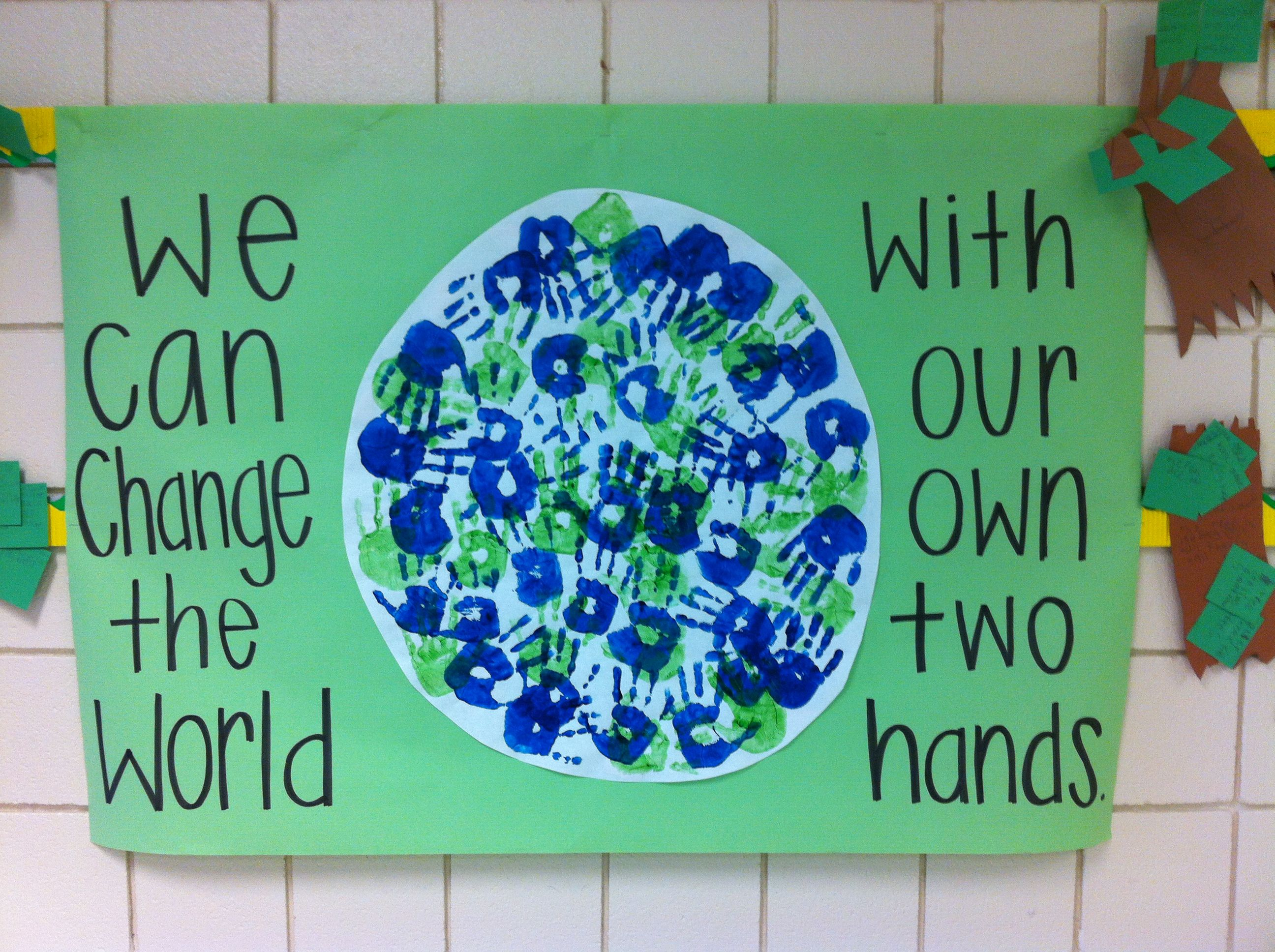 Earth Day Handprint Activity Made This With My Second