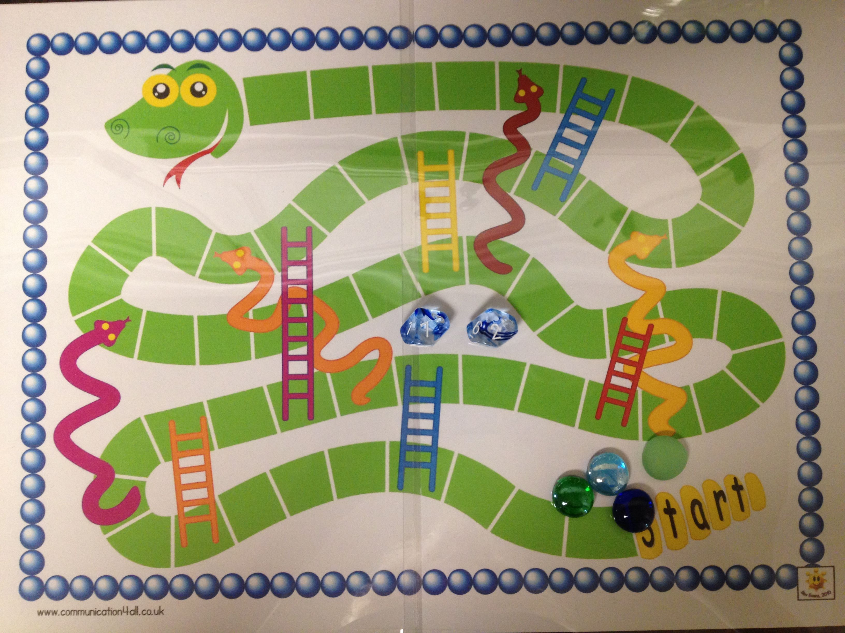Snakes And Ladders Addition Game Use Game Board Template