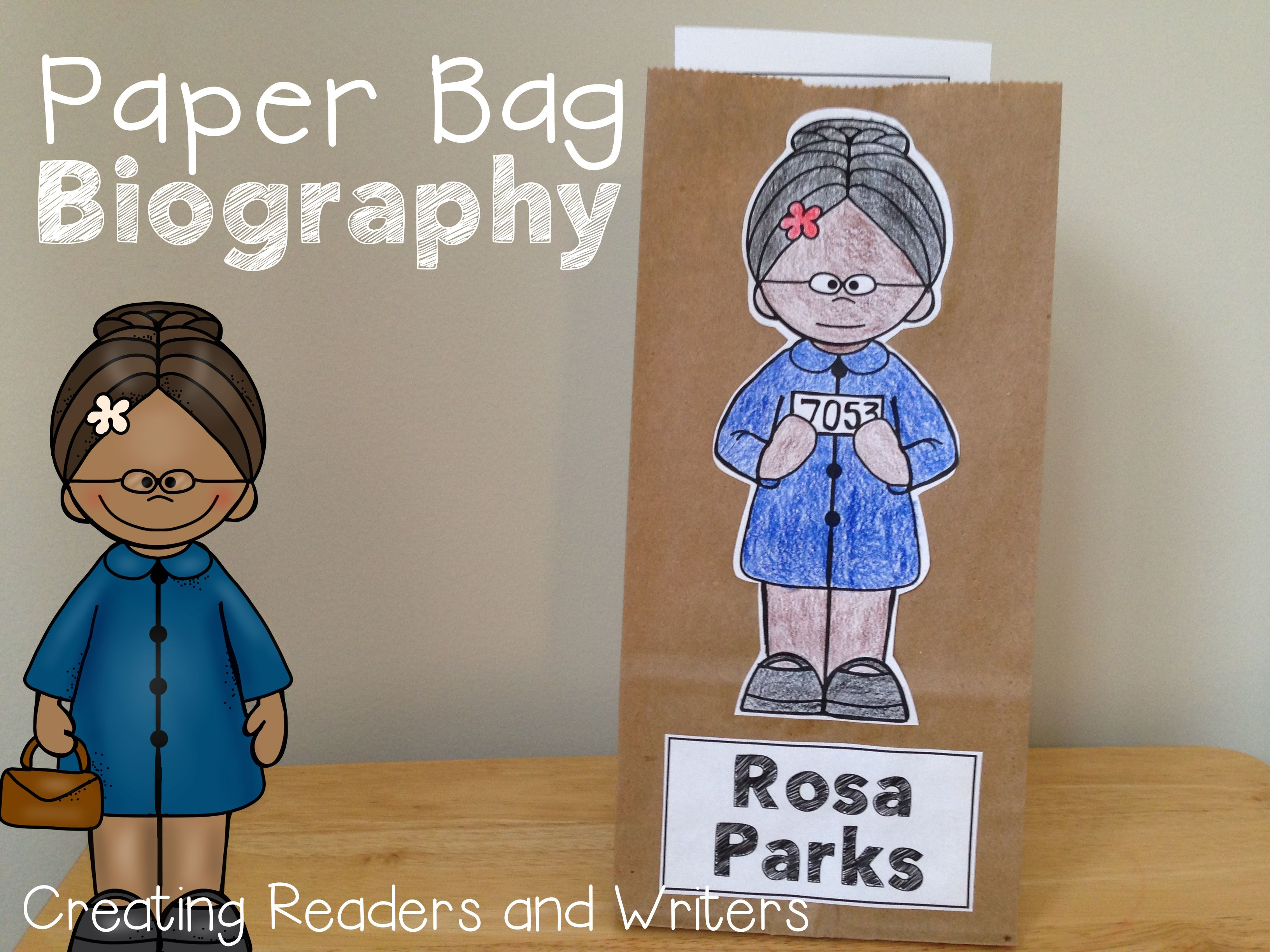 Paper Bag Biography Rosa Parks A Project For Grades 1 2