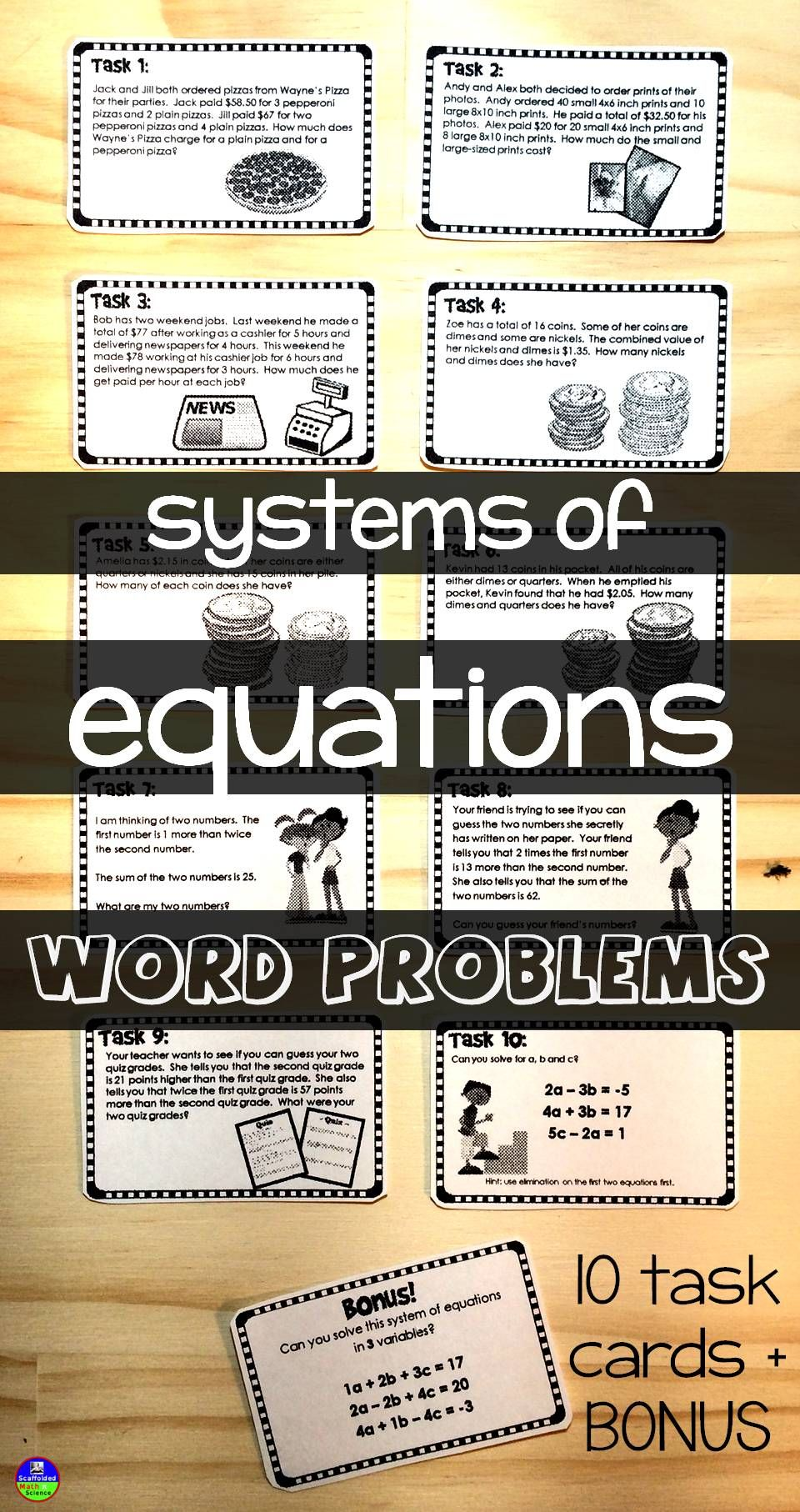Systems of Equations WORD PROBLEMS Word problems
