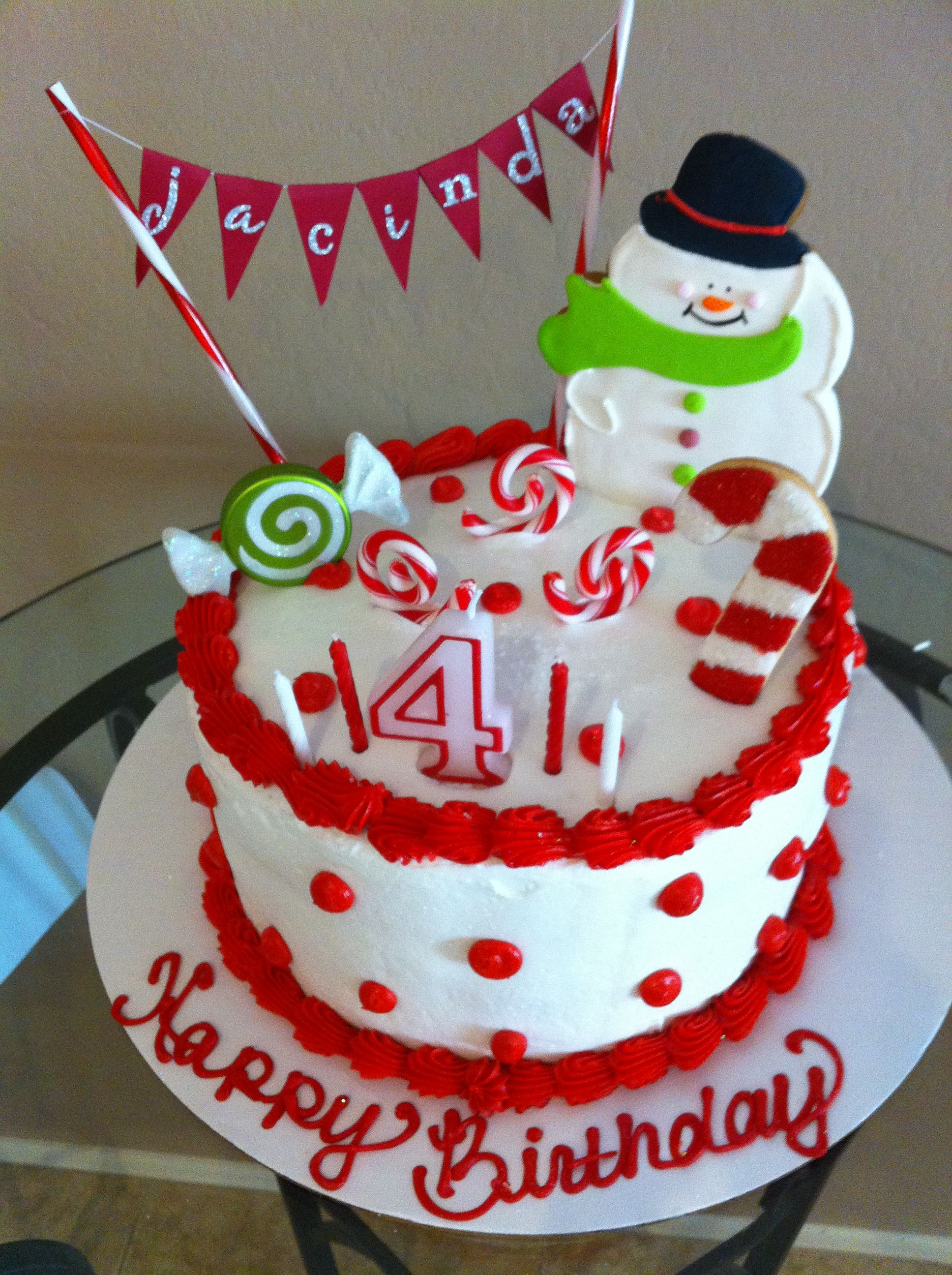 December Birthday Cake Parties! Pinterest December