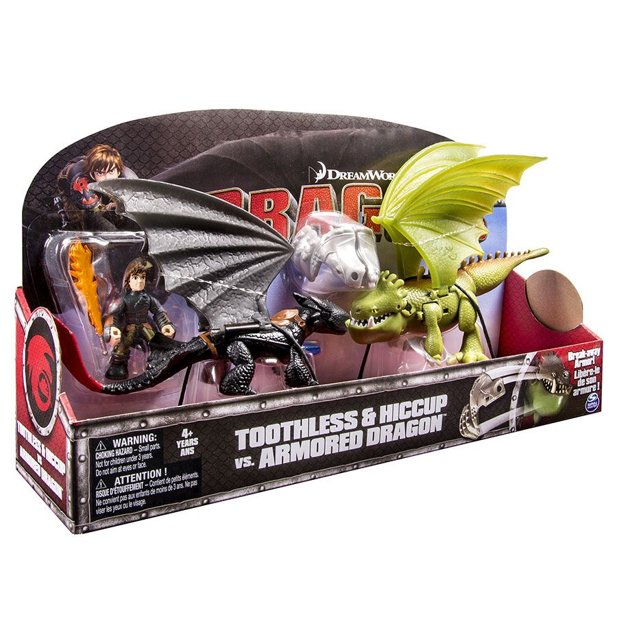 How to train your dragon toothless vs armor dragon toys