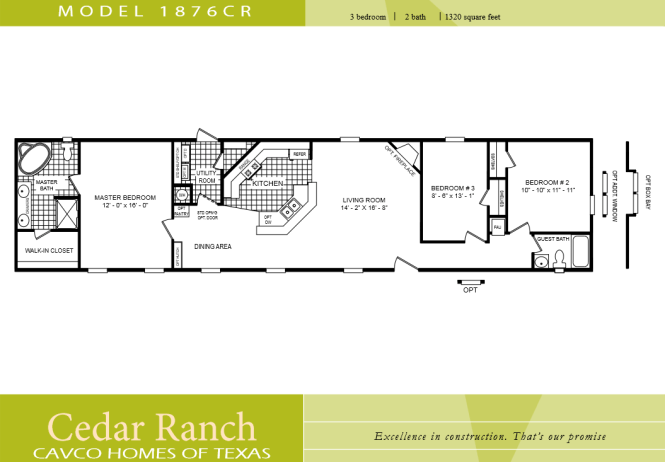Take Out The Master Bath And Replace Third Room With Bathroom Little Home Plans 3 Bedroom Ranch Floor