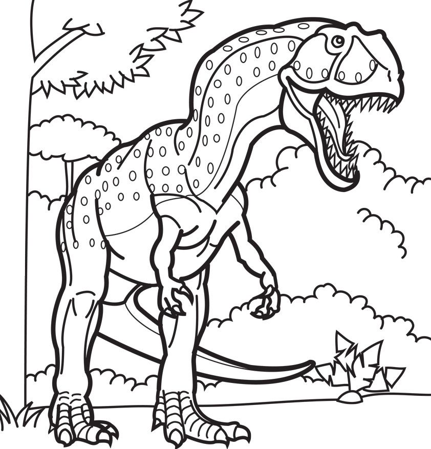 Giganotosaurus Coloring Pages Dinosaurs Pictures and
