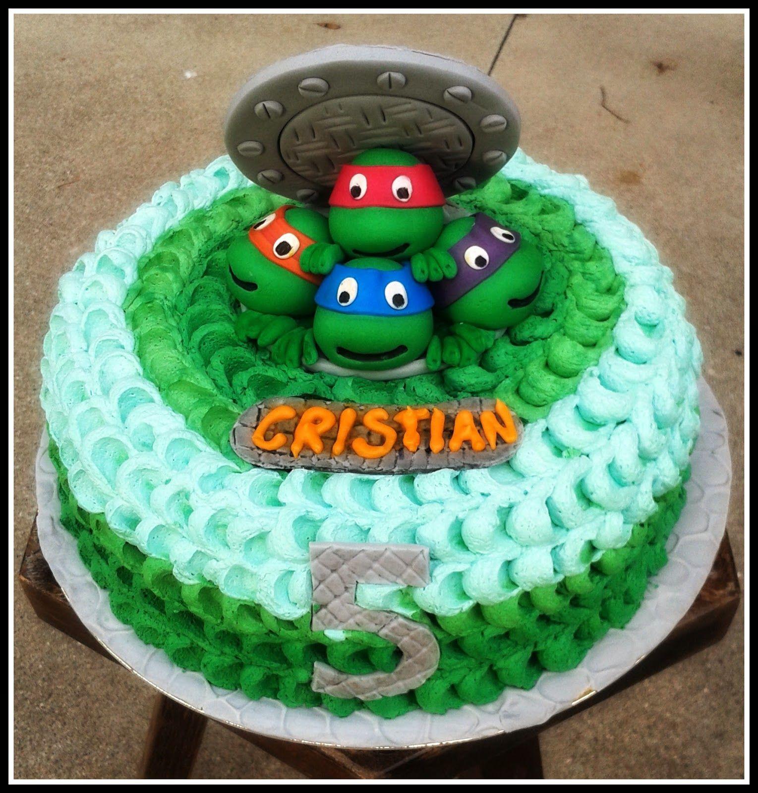 Torta Tartarughe Ninja Ninja Turtle Cake