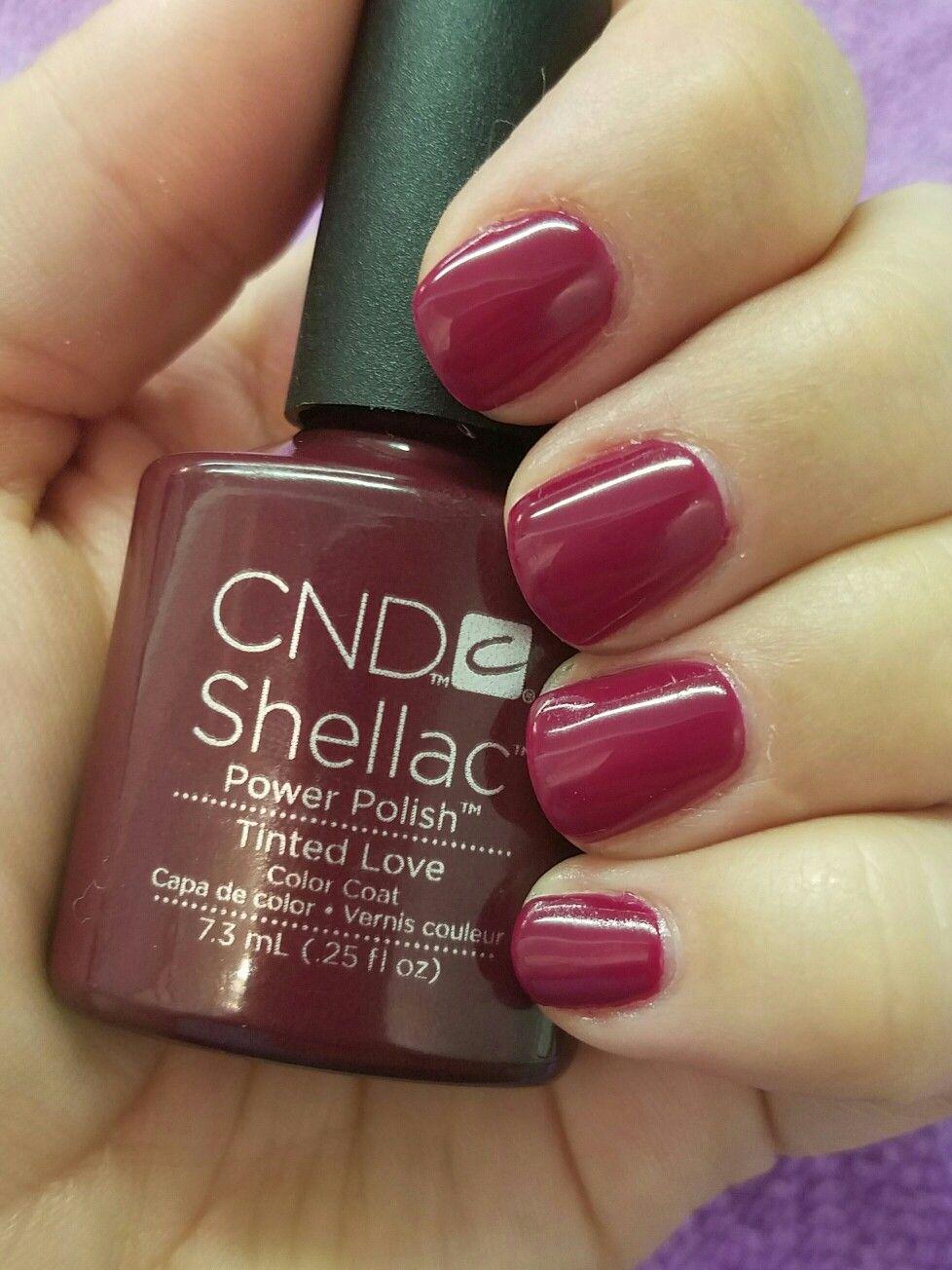CND Shellac Tinted Love Nail designs! Pinterest