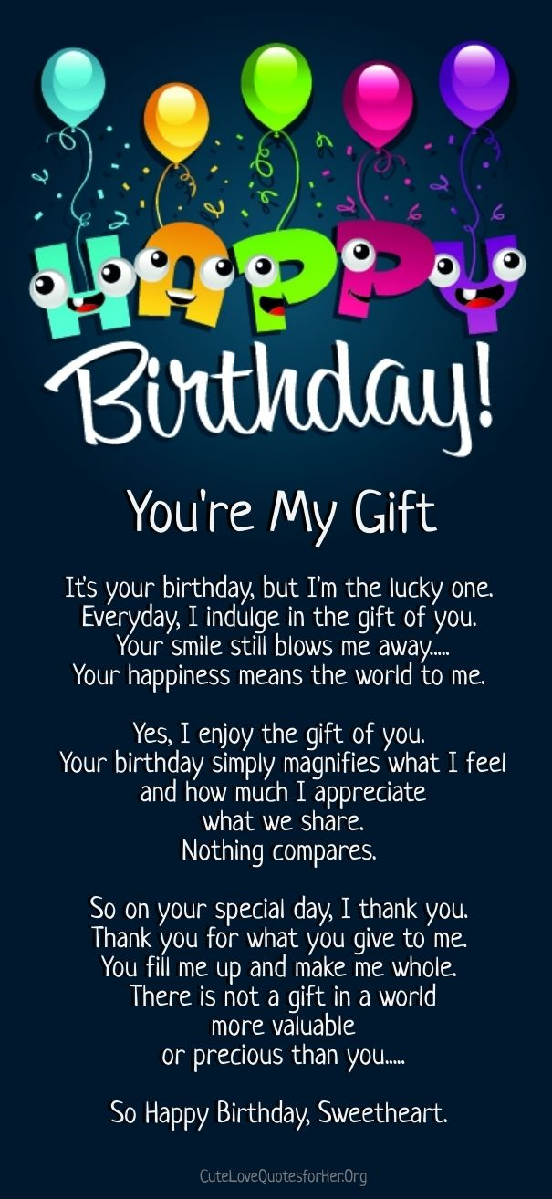 happy birthday love poems Cute Love Quotes for Her