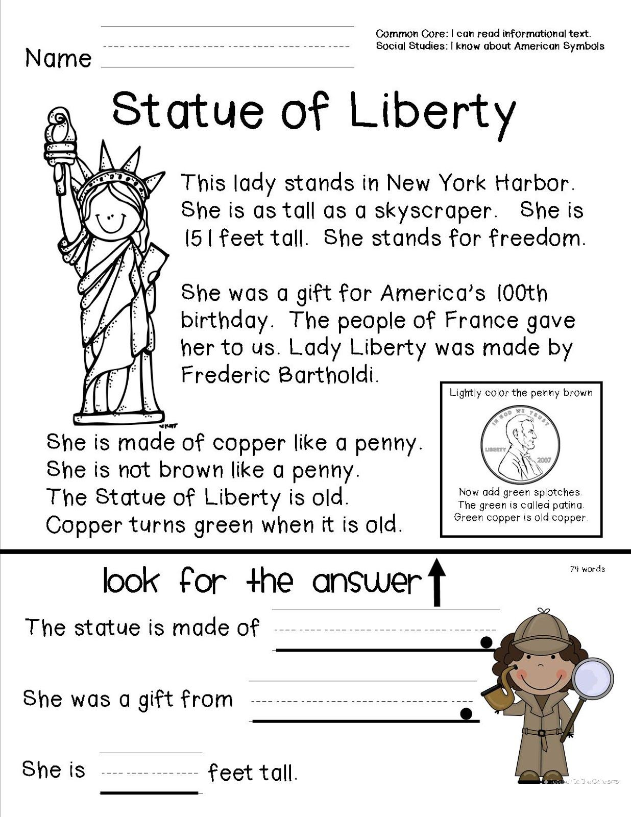 Re D G Prehensi Sheet Bout St Tue Of Liberty