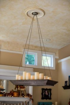 Diy Candle Chandelier Google Search