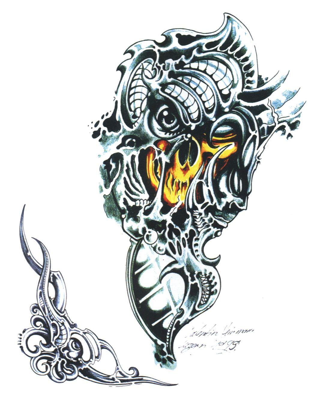 Biomechanical Skull Tattoos Tattoo Designs Picture