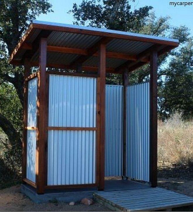 how do i make a simple outdoor shower