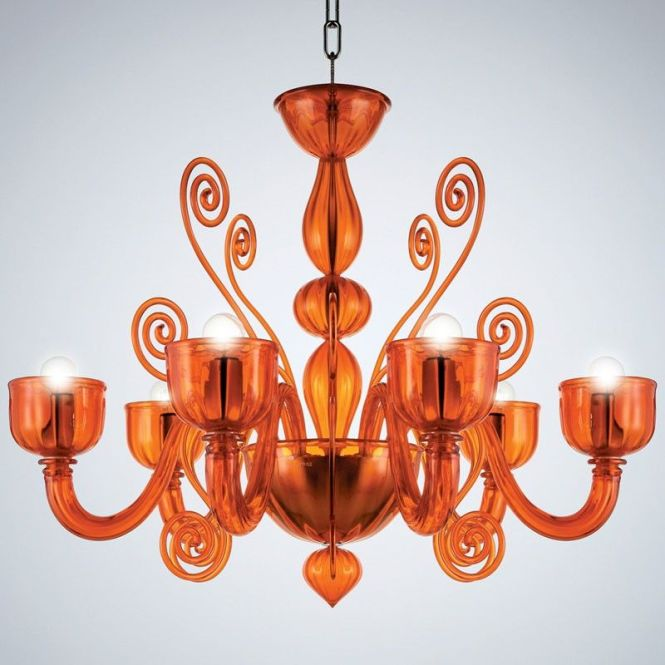 La Murrina Chandelier Glamour S 6 Orange