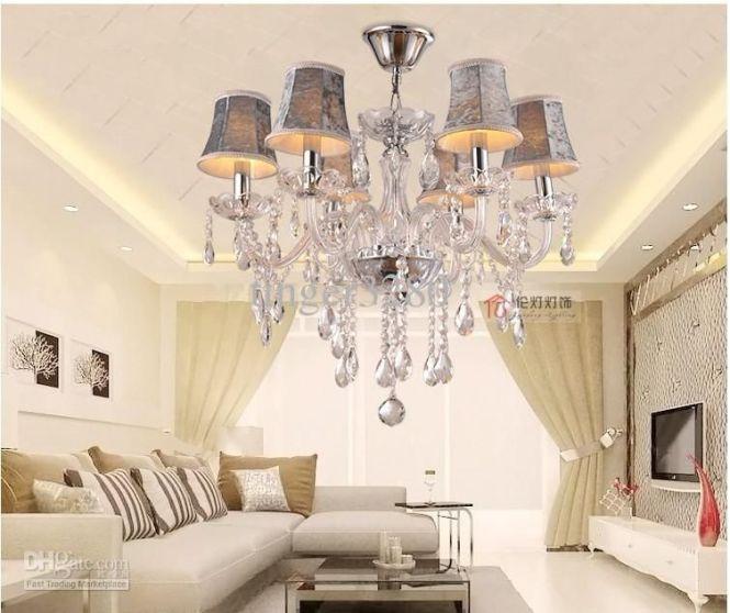 Glass Crystal Chandelier Continental Morden Lighting Bedroom
