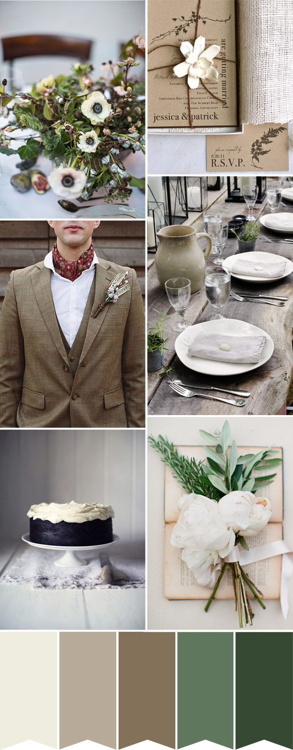 Shades of Ireland A Wedding Palette inspired by a