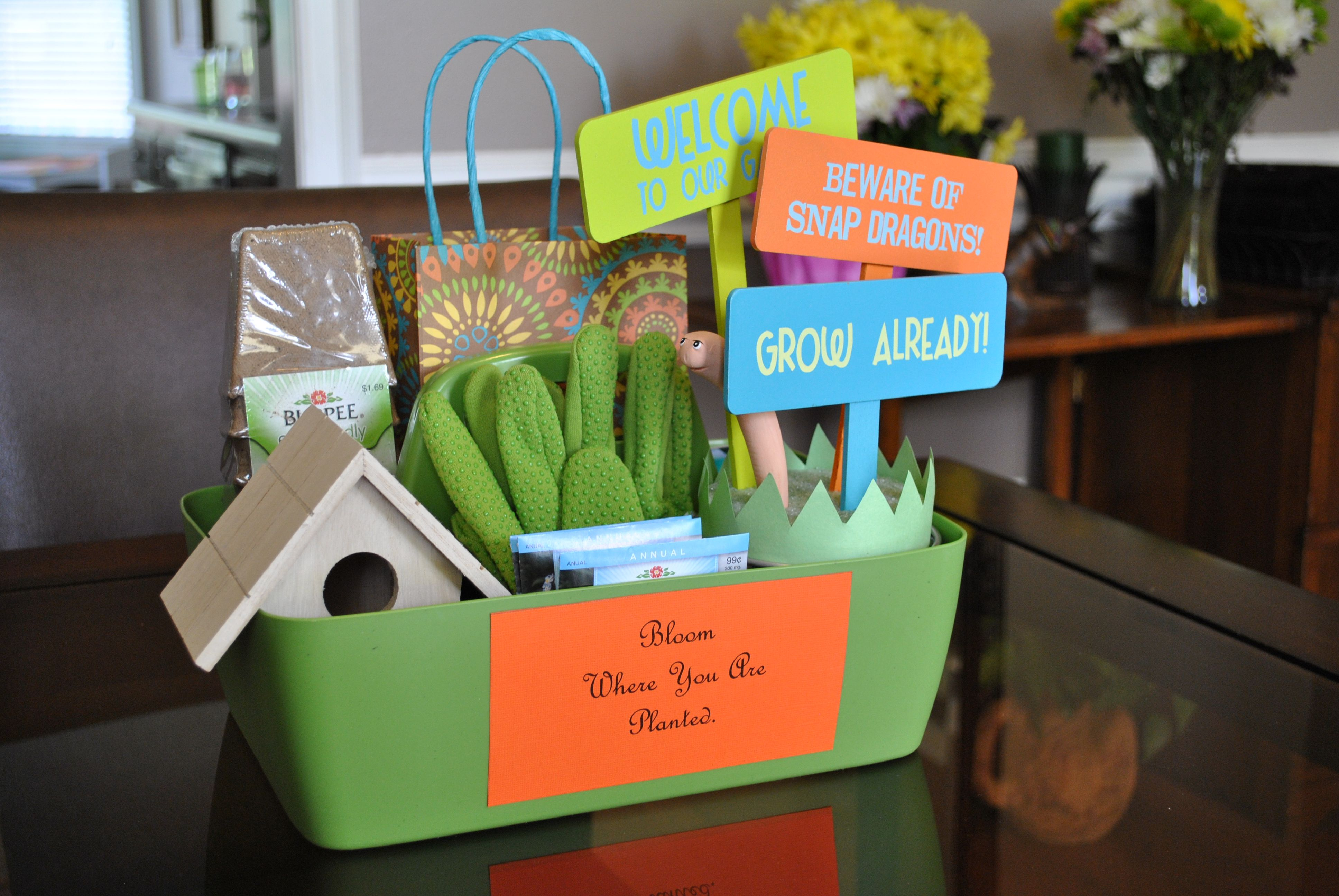 """""""New Home/Goodbye Gift Basket"""" To help """"Plant Your Roots"""