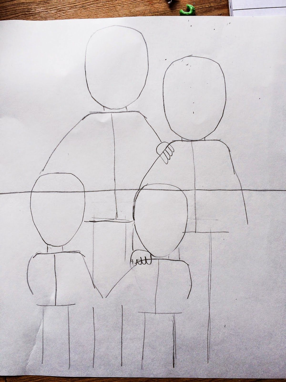 Smart Class 2nd Grade Family Portraits Step By Step