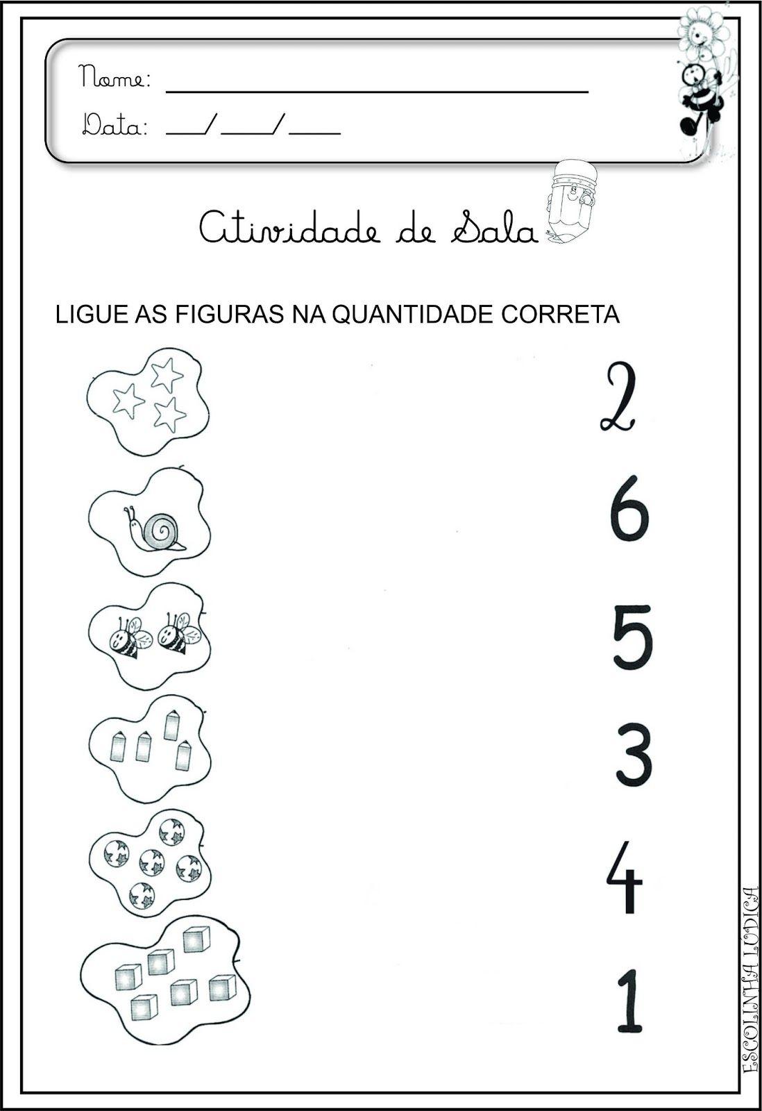 Escolinha Ludica Atividade Matematica Para Educacao