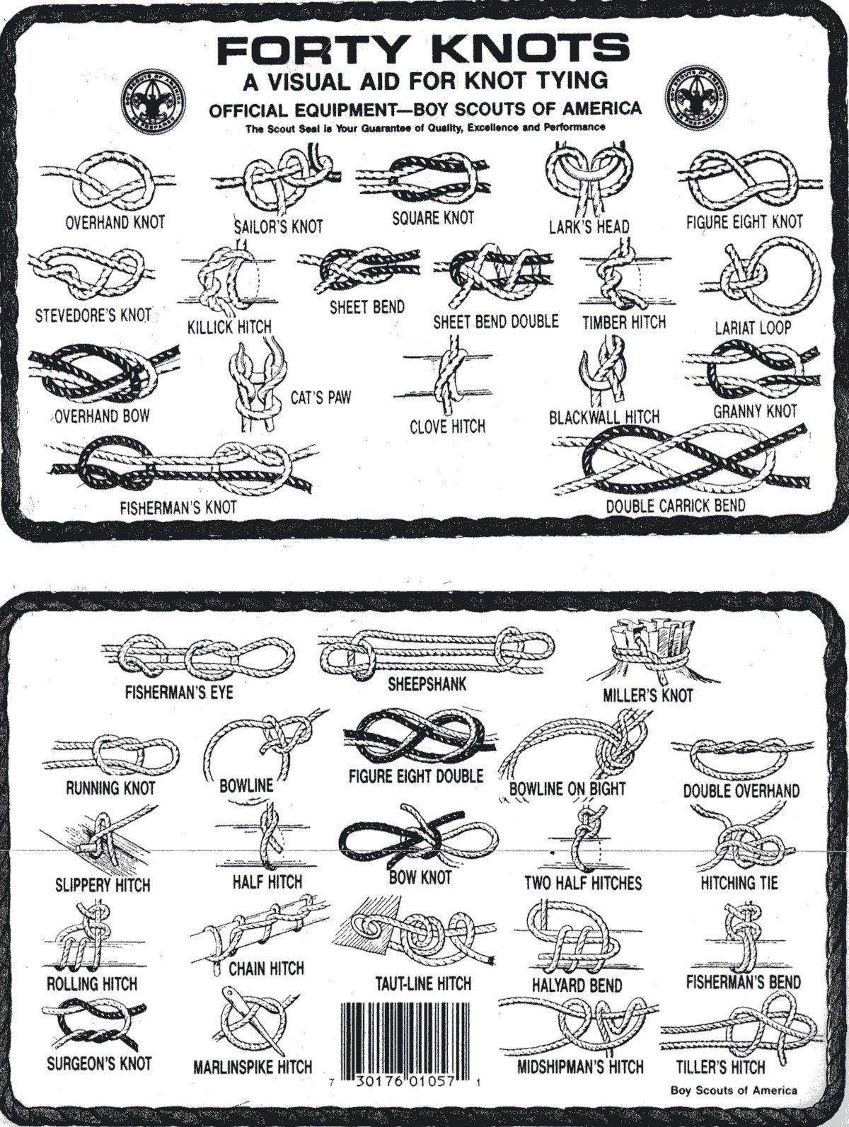 Boy Scout Knots Diagram