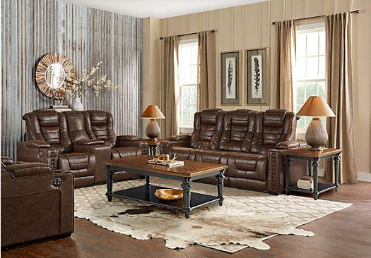 The chair has a blue tooth for music  Just bought this for Ira s     Eric Church Highway To Home Chief Brown 7 Pc Power Plus Reclining Living  Room   Find affordable Reclining Living Rooms for your home that will  complement