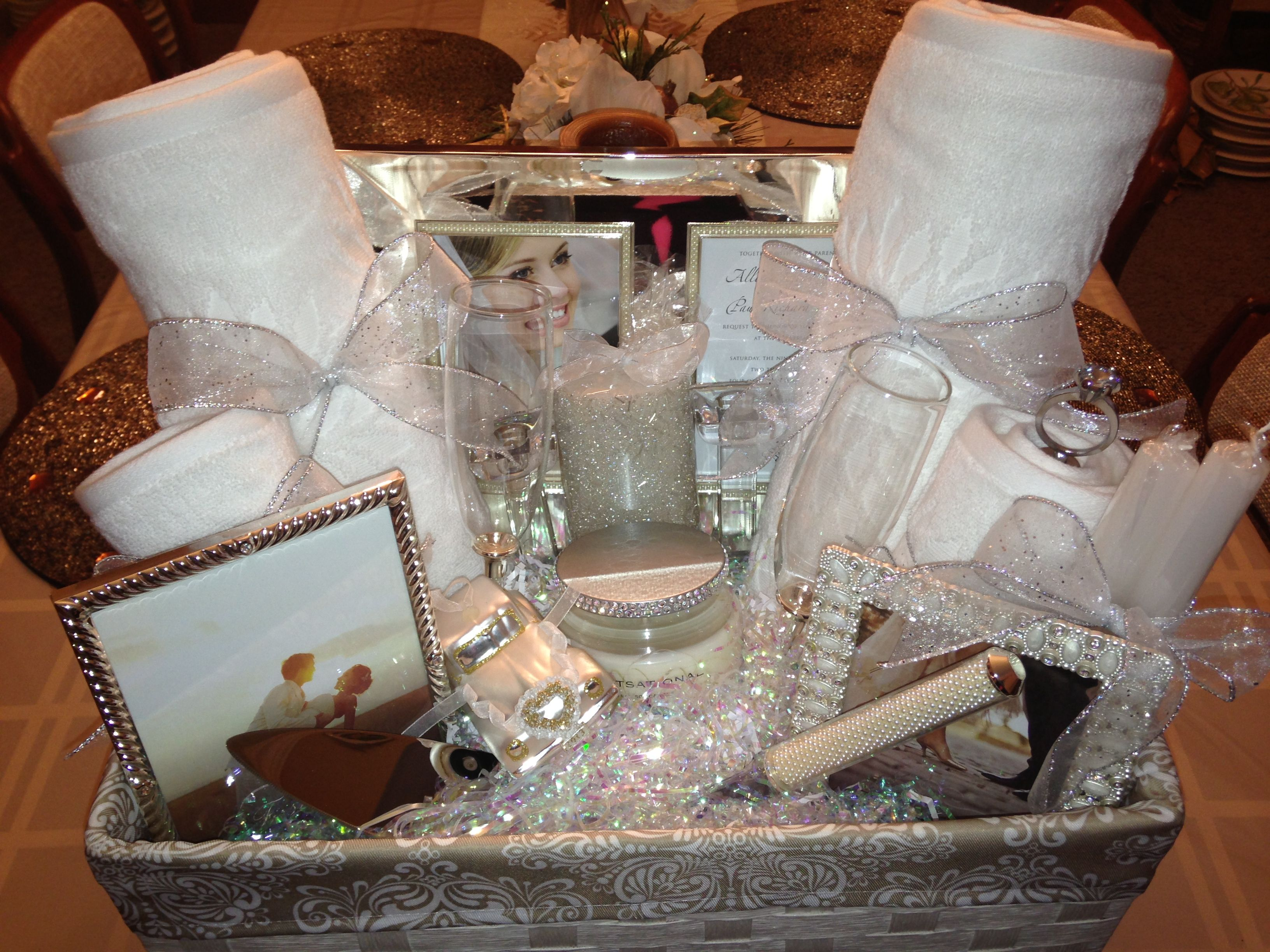 Bridal shower gift basket ideas. on
