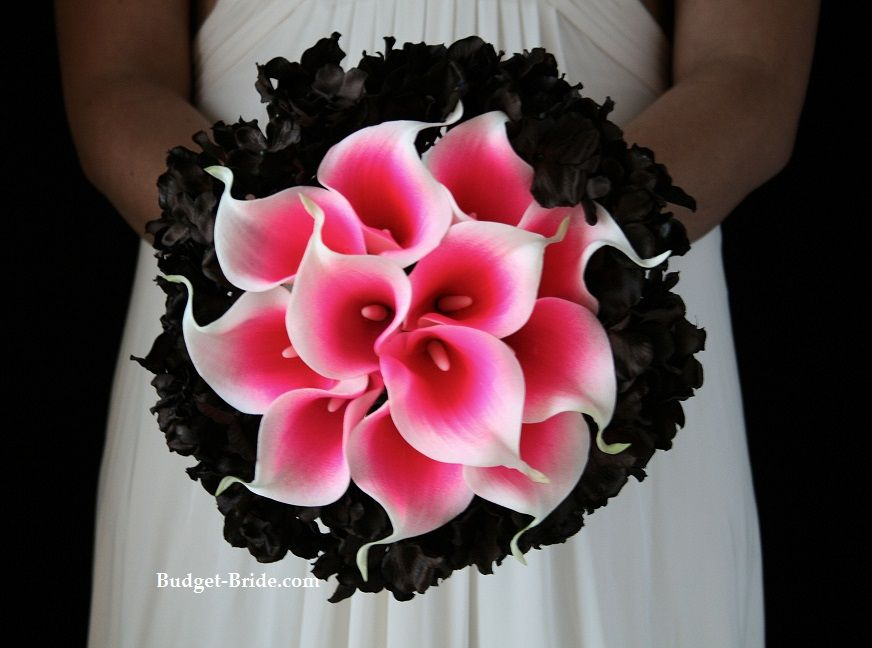 Hot Pink And Black Wedding Flowers