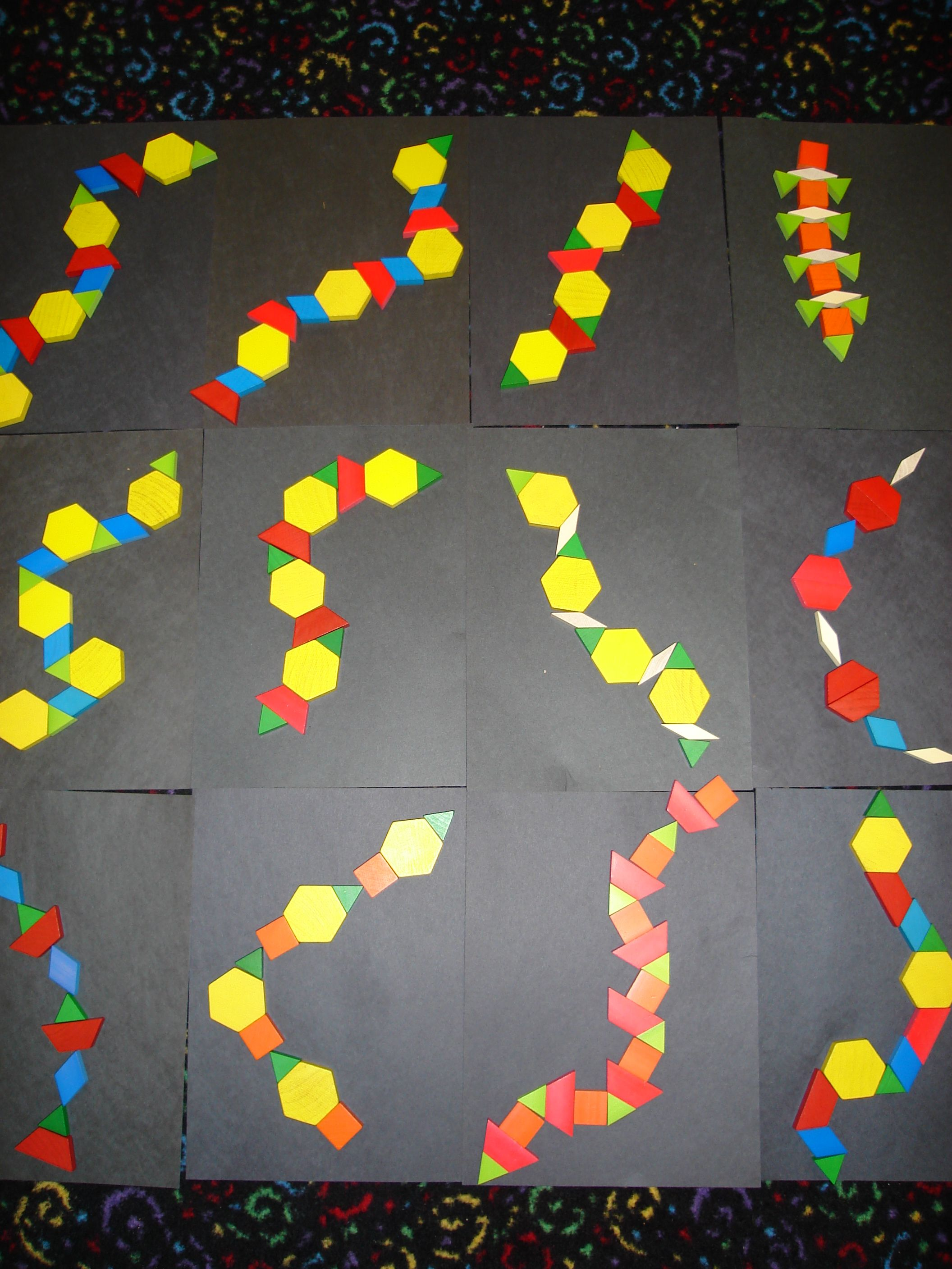 Rainforest Lilteacher Math Pattern Snakes