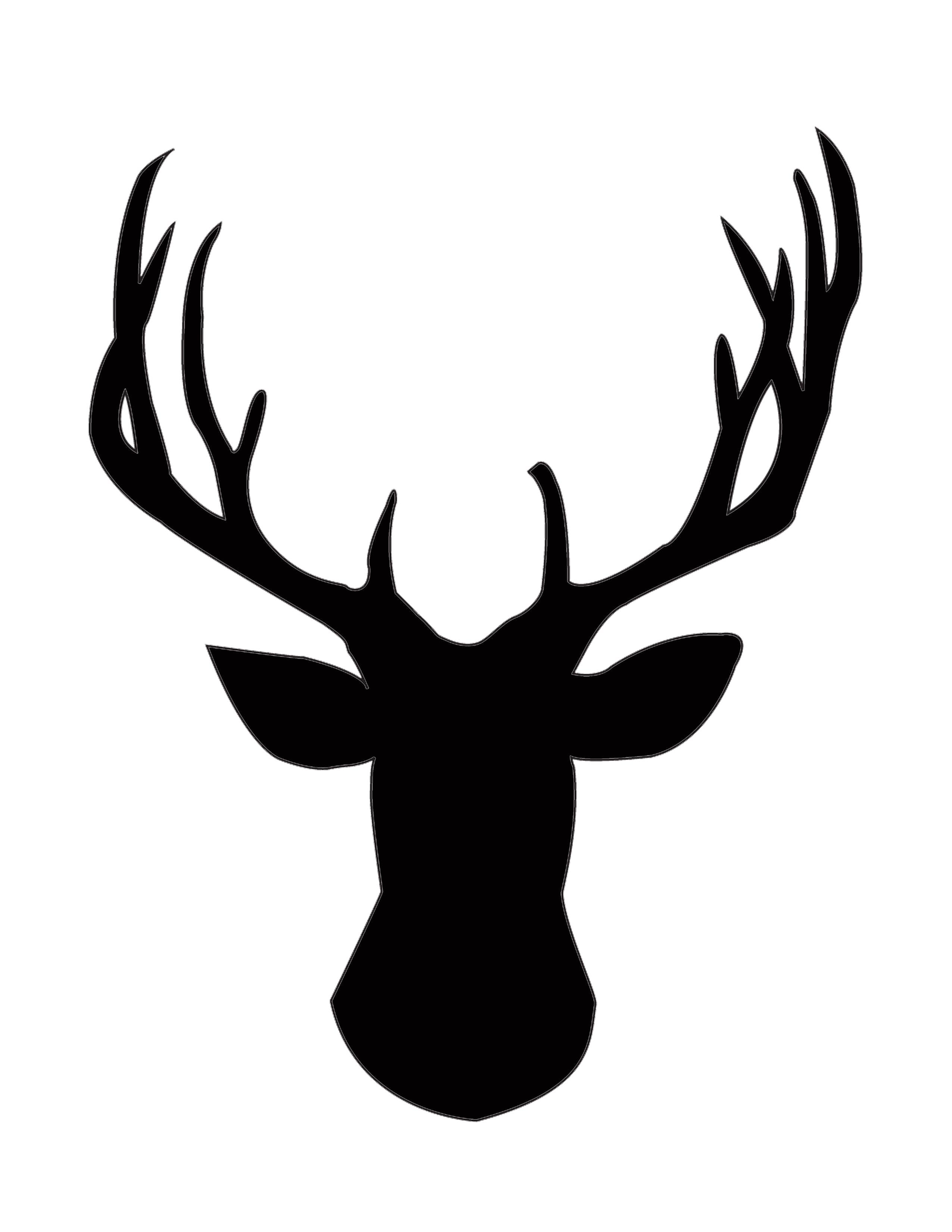 DIY Gold Foil Deer Head Silhouette Deer head silhouette