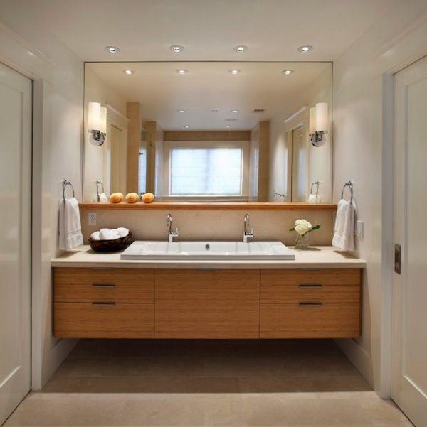 bathroom lighting design: placing lights on the mirror | shelves
