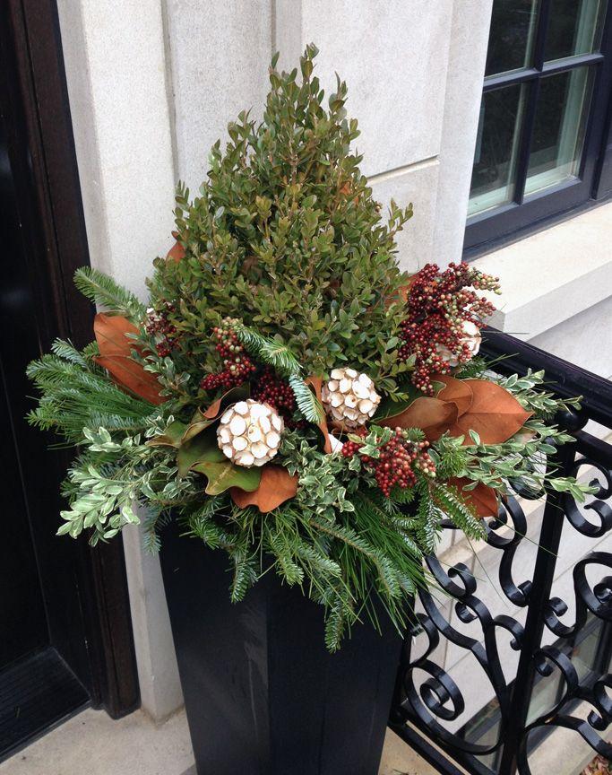 Winter Decor, Christmas, containers, seasonal, gardening