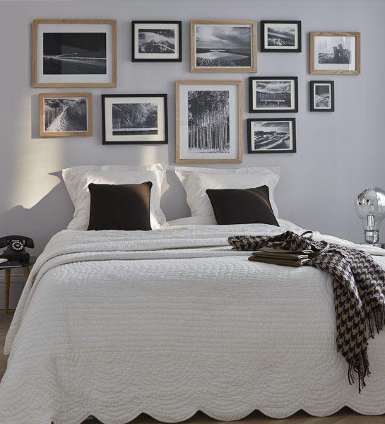 tete de lit un mur de cadres pour habiller la tete de lit une veritable galerie de paysages qui invite a la reverie http www castorama fr stor