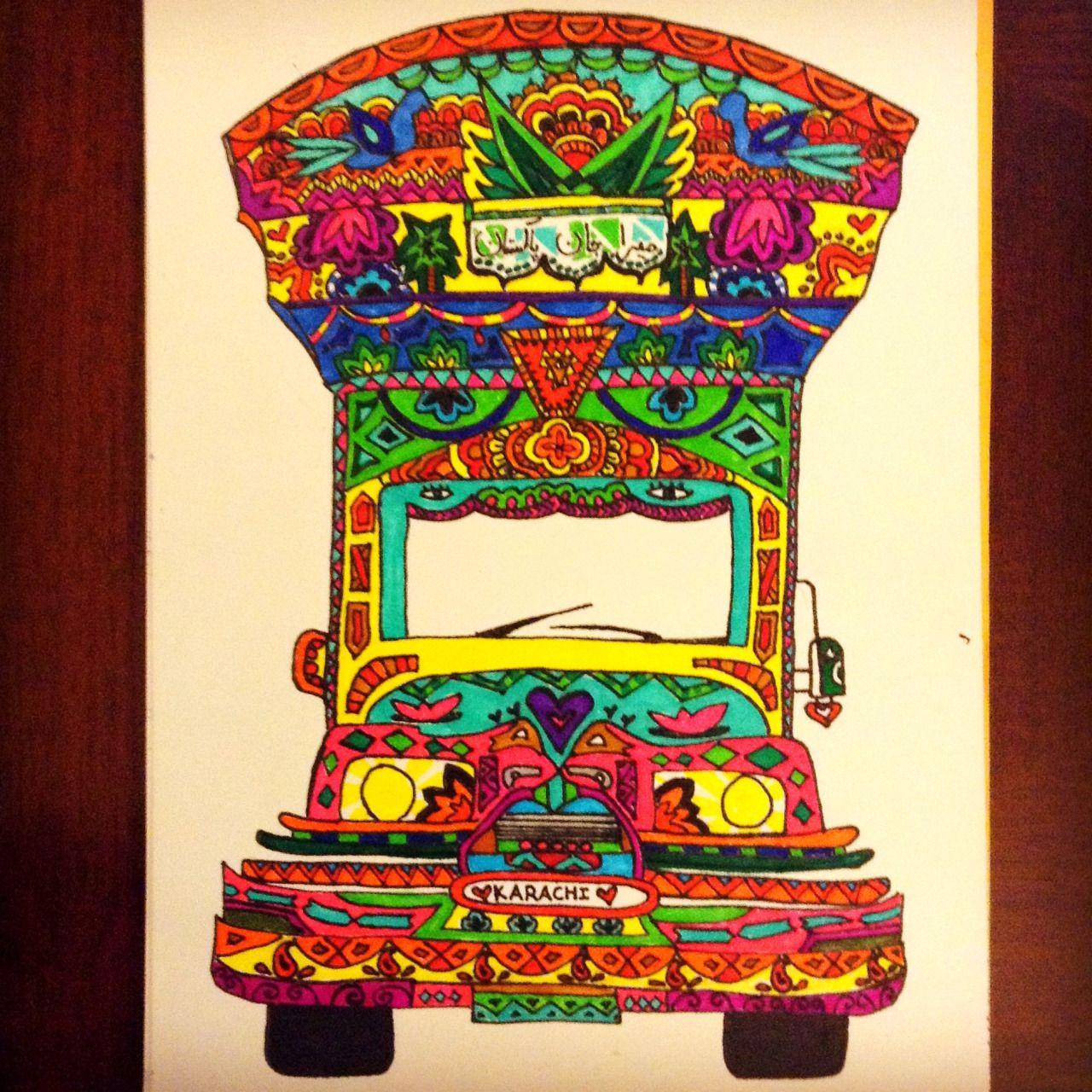 """Doodle Doo — Pakistani Truck Art. """"*Meyree Jaan Pakistan"""