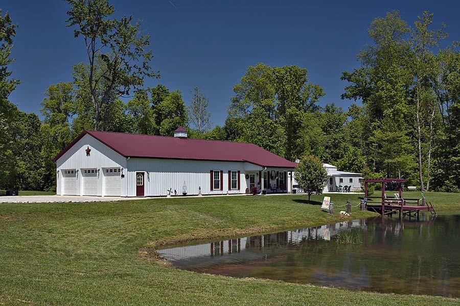 metal barn with living quarters floor plans Pole Barn