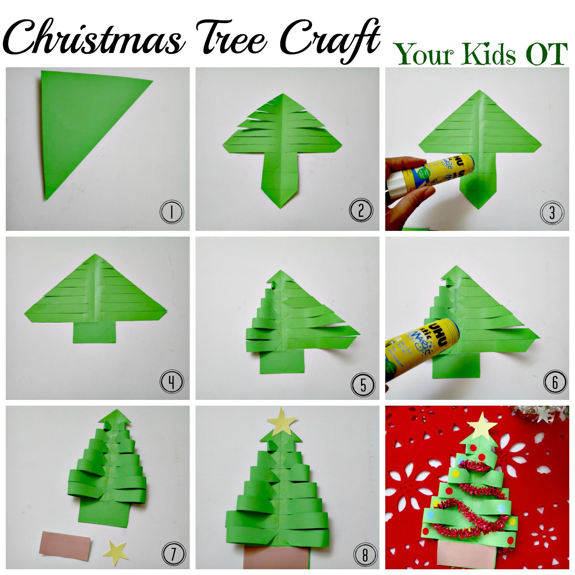Adorable Easy Christmas Tree Craft Your Kids Ot