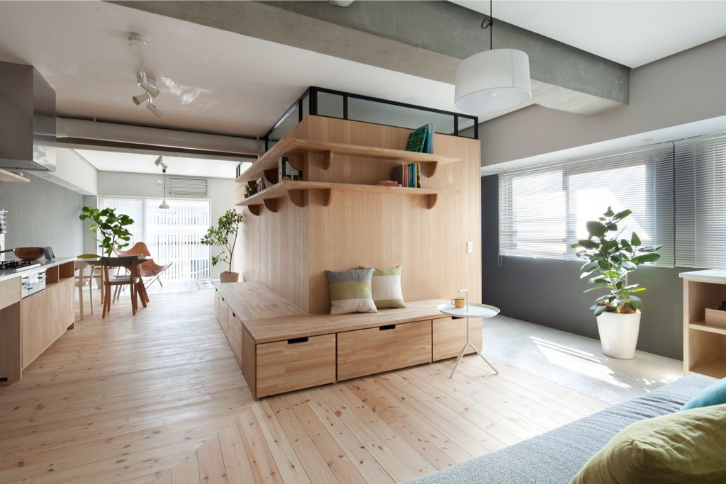 A 65 Square Meters Small Apartment Interior Open Plan