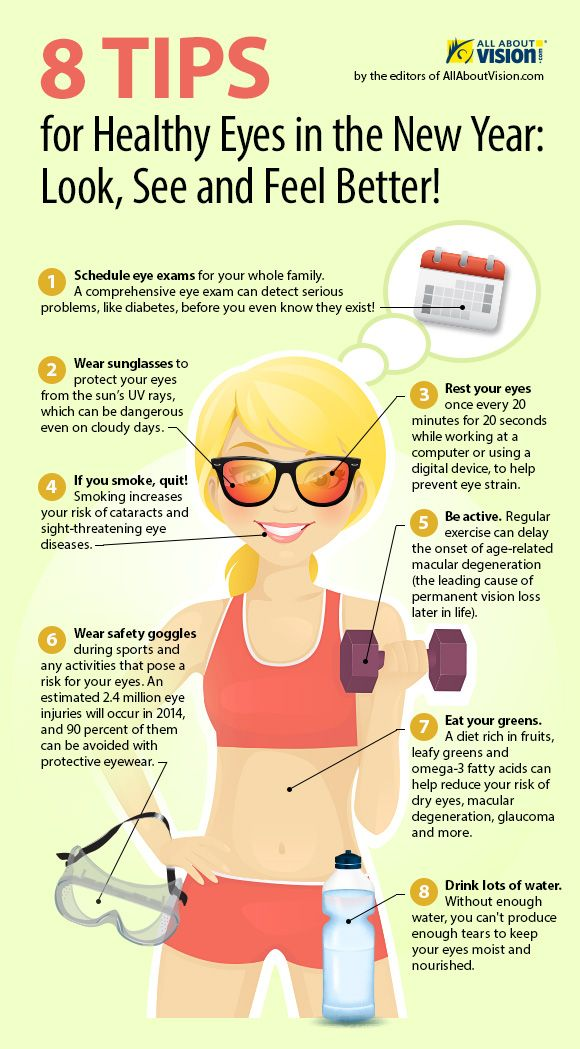 8 Tips For Healthy Eyes In This New Year Infographic