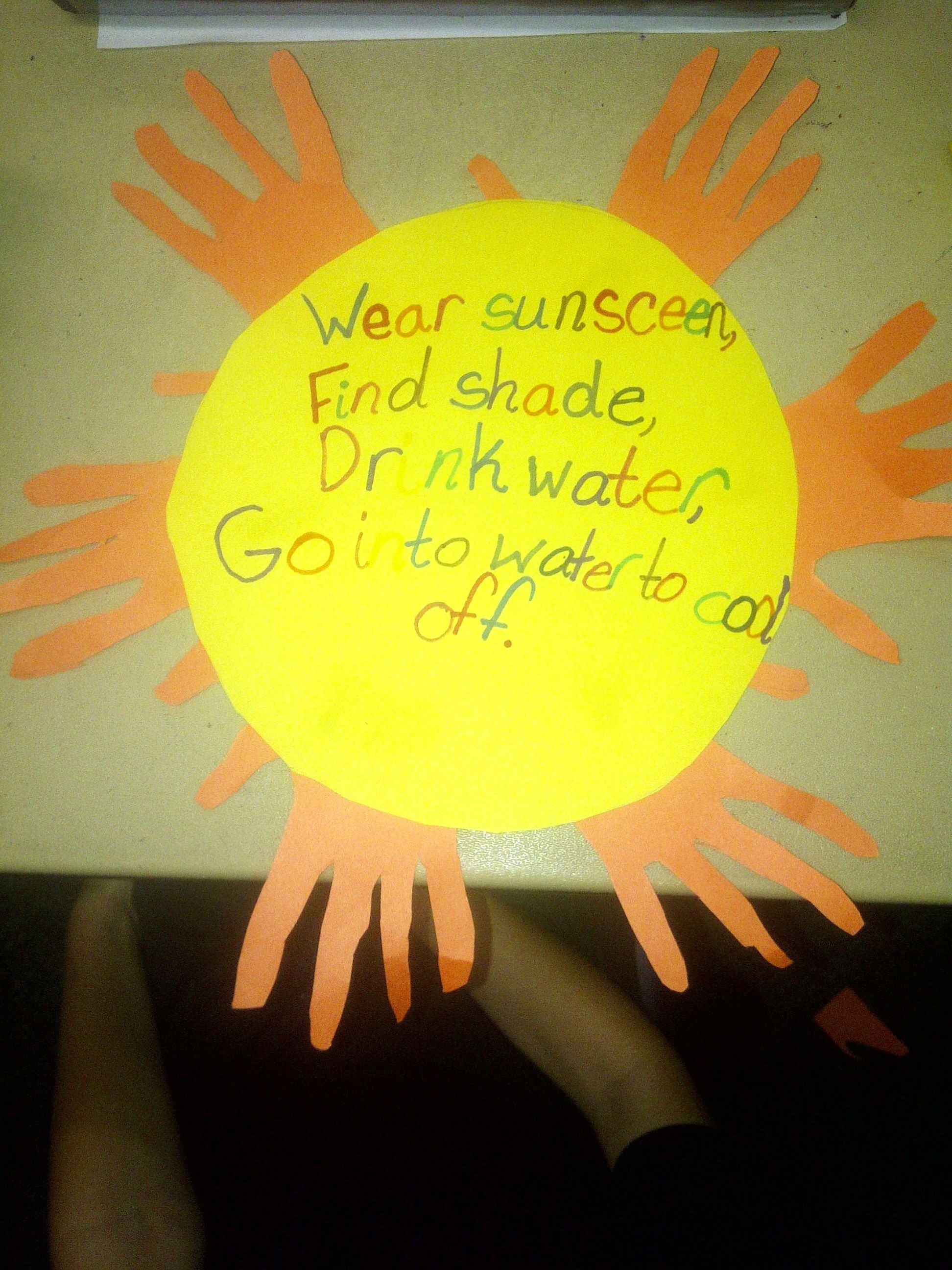 For Health Today We Talked All About Sun Safety We Used