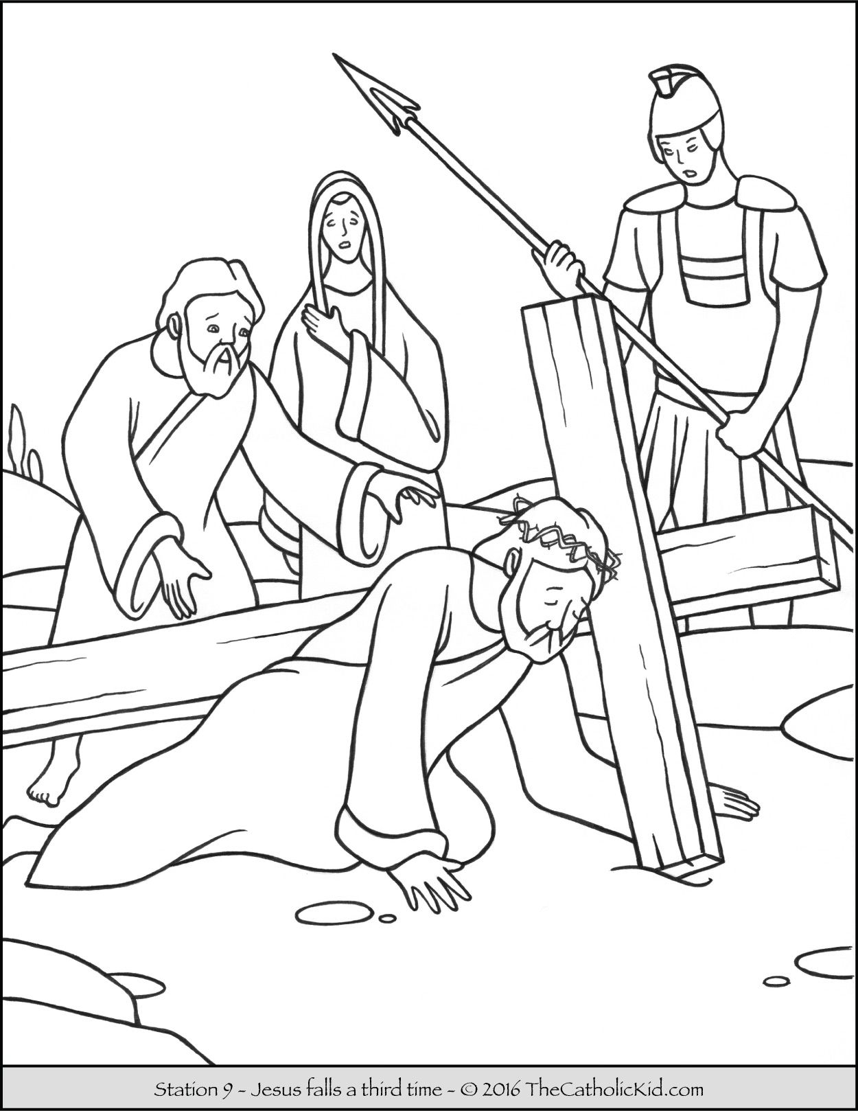Stations Of The Cross Coloring Pages 9