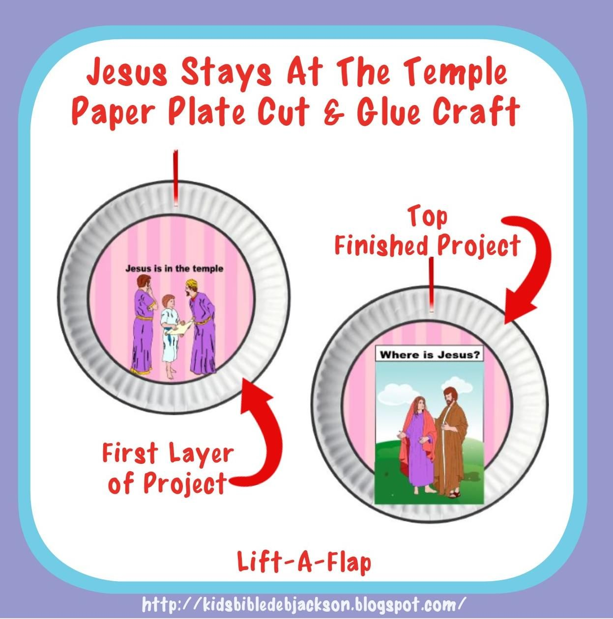 Jesus Stays At The Temple Paper Plate Craft