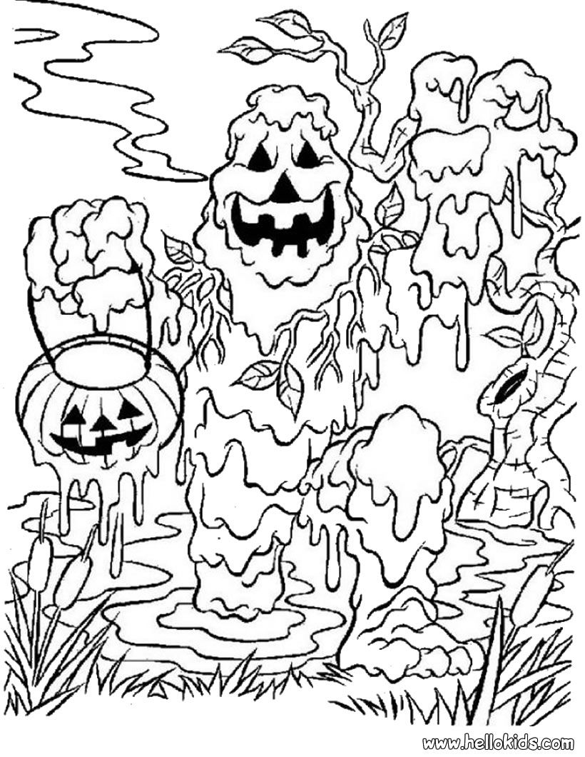 mud monster halloween coloring page  baby  pinterest