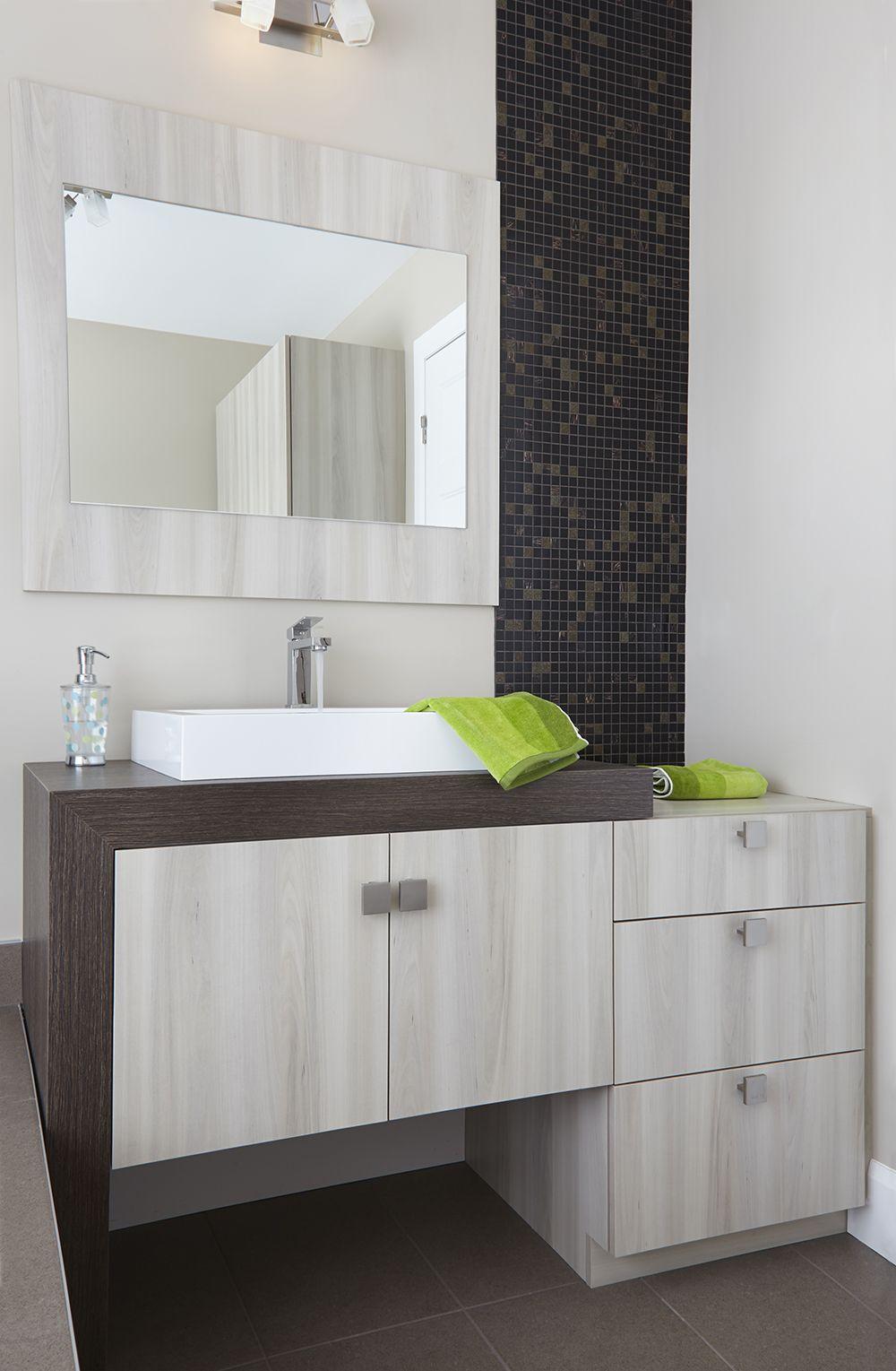 armoires de salle de bains moderne vanite en melamine de couleur poire de la cote