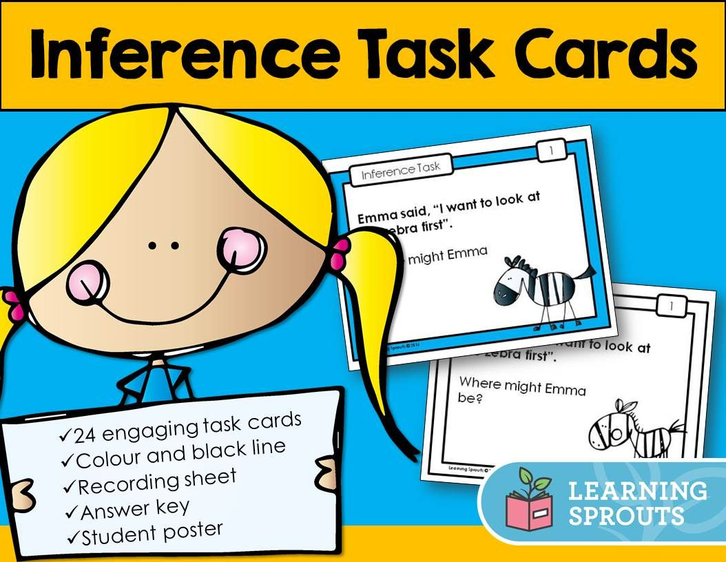This Pack Of Inference Task Cards Is Perfect For Beginners Years 1 2 Inferring Is An