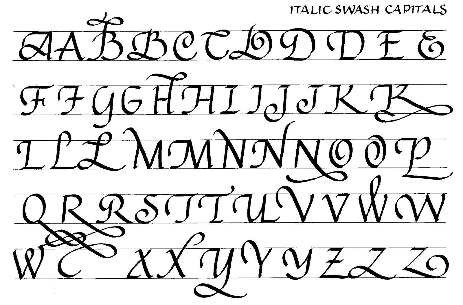 Italic Swash Caps From Lc 153