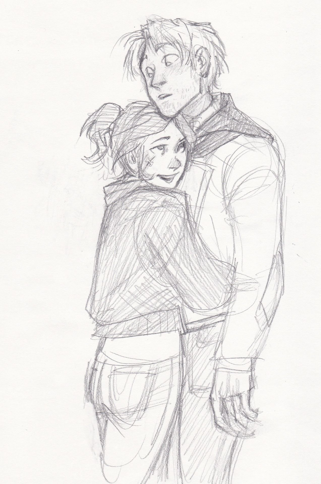 Tumblr Couple Hugging Drawing Sofia And Alex Draw Burdge